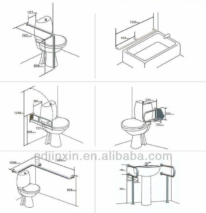 Stainless Steel Handicap Toilet Grab Bars, View Handicap Toilet Grab ...