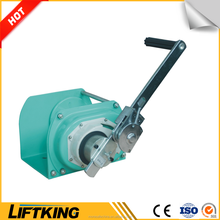 LIFTKING portable manual hand winch with wire rope for pulling equipment