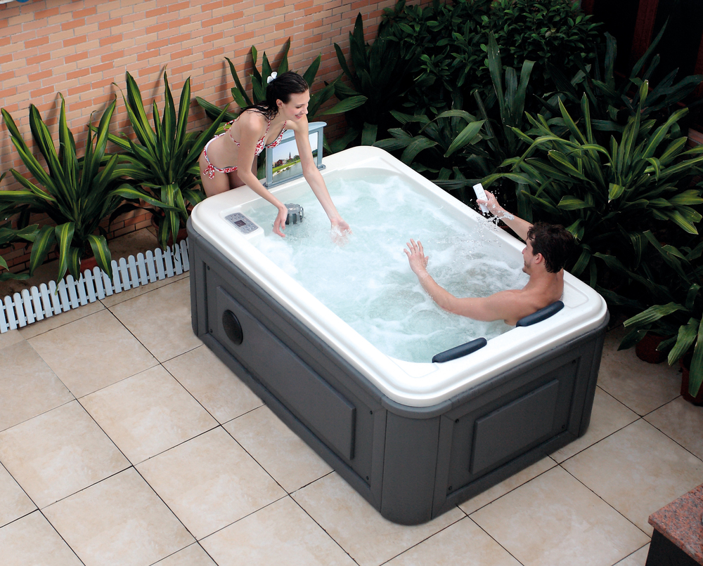 Hs-spa291y White Spa Bathtub/ 2 Person Portable Hot Tub/ Spa Tub ...