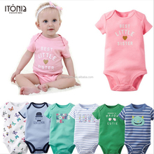 New trendy high quality 100% cotton 1 year old baby cartoon clothes