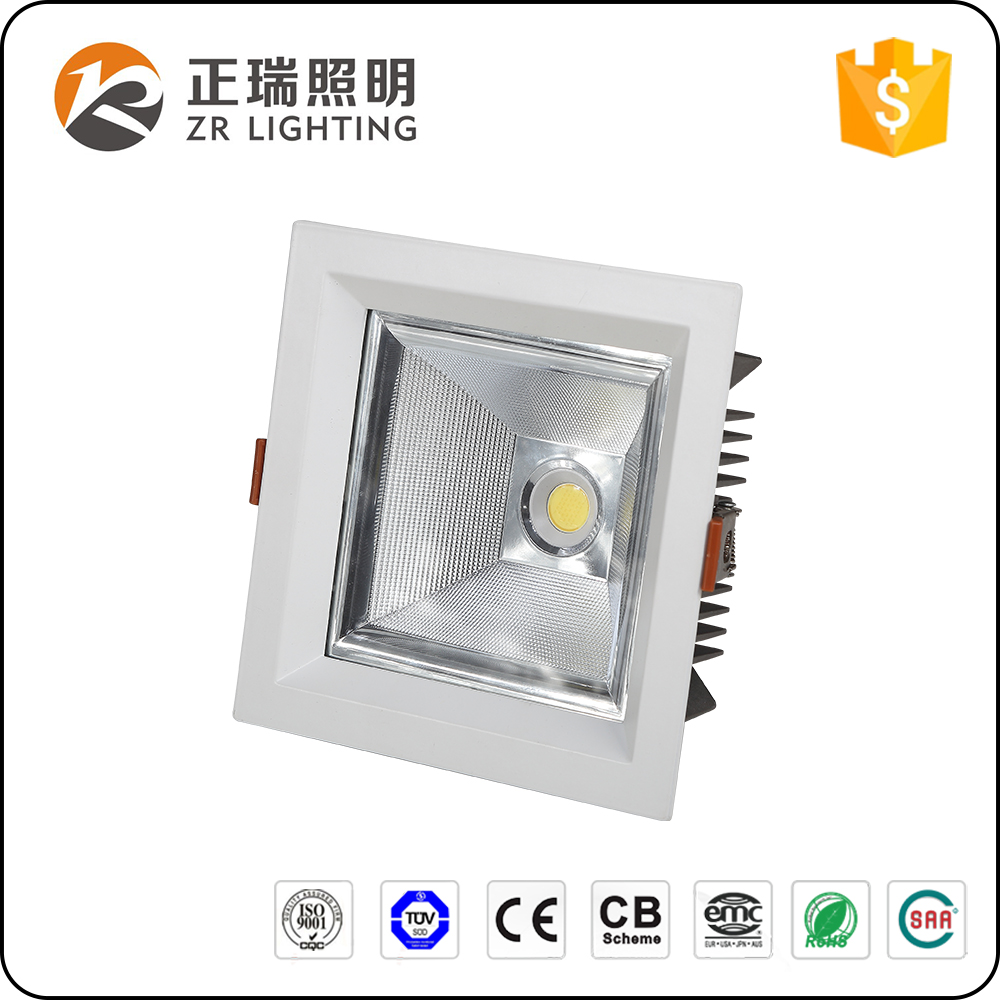 High Quality Hotel Project 12W 20W 35W CE ROHS SAA certification dimmable Square led ceiling light