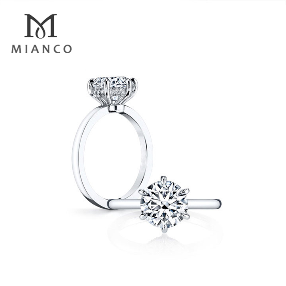 Mianco Wholesale Factory Sample Engagement Rings Jewelry Ring 925 Silver MR122S