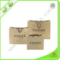 High Quality Custom Brown Paper Shopping Bags