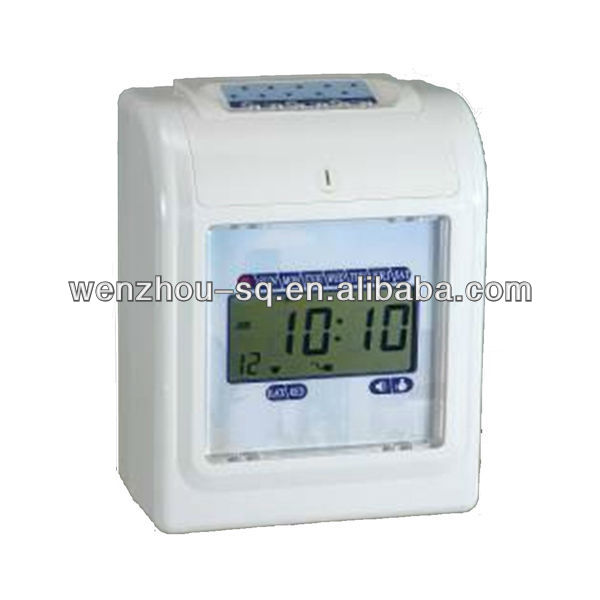 LCD Display Punch Card Electronic Time Recorder Attendence Management