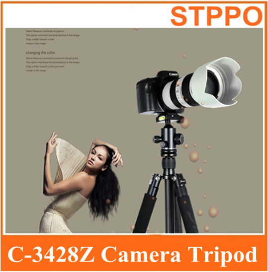Professional Studio Camera Stand Sinno C3428Z C-3428Z Dragon Grain Carbon Fiber Tripod Kit with Monopod