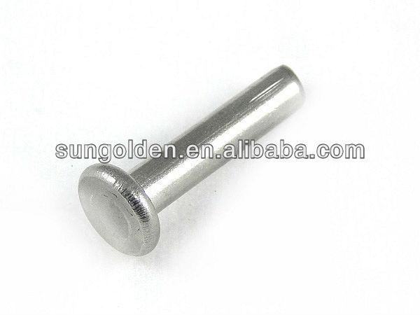 Aluminio acero acero inoxidable cabeza plana y redonda de - Remaches acero inoxidable ...