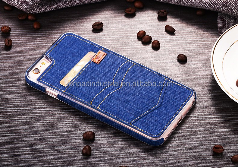 denim similar jeans phone case, fabric case for iphone 7, flip canvas cell phone case