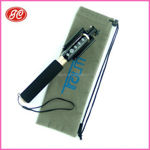 2015 promotional high quality microfiber selfie stick pouch&selfie stick bag