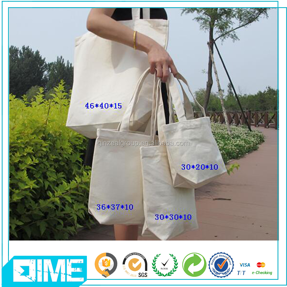 Recyclable Shopping Wholesale Rolling Cotton Shoulder Tote Bag