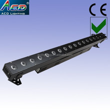 liner housing 18*10w rgba 4in1 multi color led stage lights bar