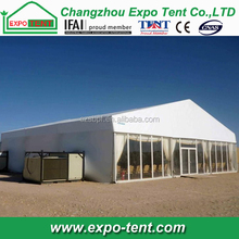 Large outdoor marquee ceremony canvas tent with air conditioner