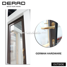China Factory AS2047 Hurricane Impact Double Glass Doors