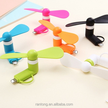 2 in 1 Portable Mini Micro USB Mobile phone Fan for iphone and for Android
