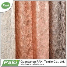 snakeskin embossing faux leather PU Synthetic Leather