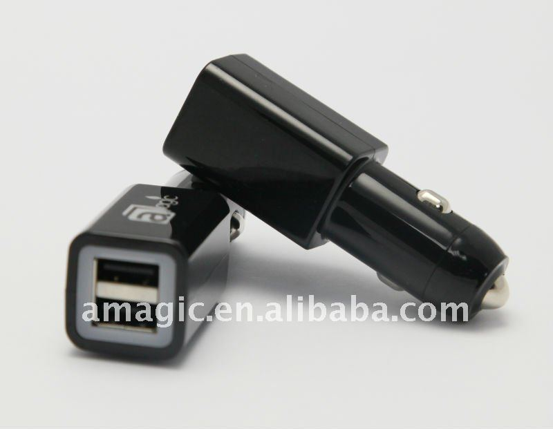 CE FCC PC case car cigarette charger With Dual Usb 2A Cell Phone for IPAD iphone samsung htc mini