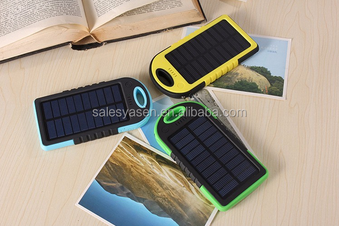 waterproof solar power bank External Battery 2 Ports Solar Panel backup Solar Power bank for All cell phone