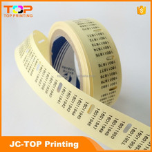 Vinyl PVC transparent figure number sticker