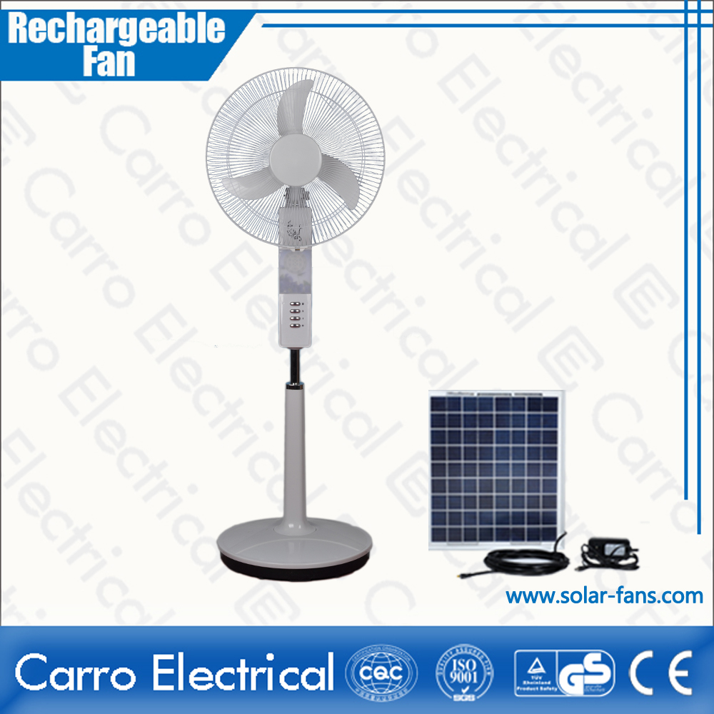 Good quality 16inch 12v solar ac & dc emergency lamp with fan
