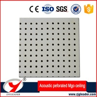 Fireproof Sound insulation perforated MgO acoustic ceiling