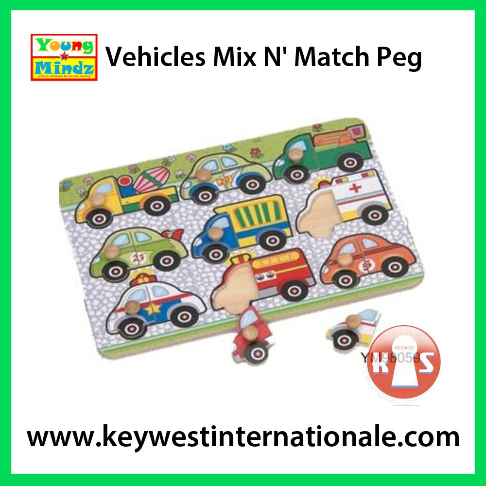 Vehicles Mix N' Match Peg