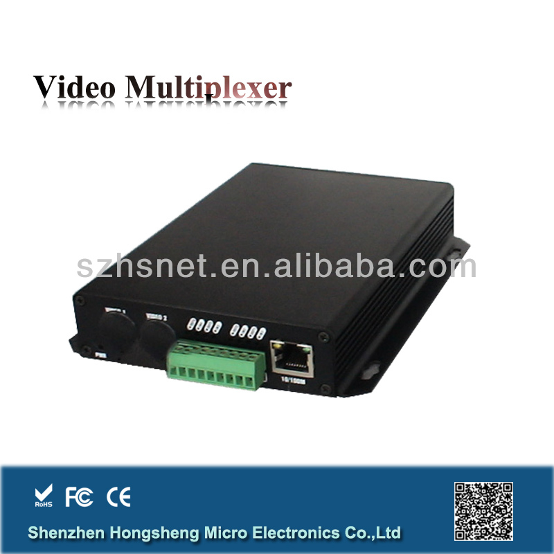 1 Data + Ethernet High quality fiber optical multiplexer for IP cameras