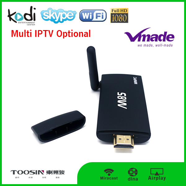 KODI 16.0 Amlogic S805 Quad Core MINI PC Android 4.4 1G 8G TV Box wifi M85 TV Stick with remote 10 Pieces (Min. Order)