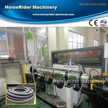 High quality Single Wall PVC Corrugated Pipe Machine / Plastic corrugated pipe making machine / corrugated pipe extruder