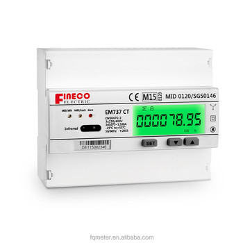 EM737 CT 3*230/400V 1.5(6)A watt voltage meter digital