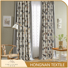 2018 popular custom made classical polyester cheap window curtains