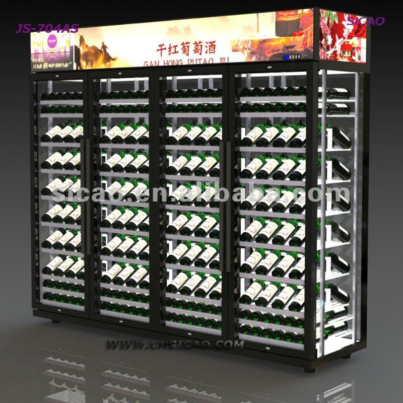 Customized Wine Display Refrigerator Showcase,Compressor Wall Glass Door  Display Fridge Cooler For Any Wine And Beverage   Buy Wine Display  Refrigerator ...