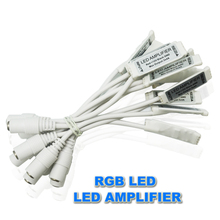 Cheap RGB LED Strip Amplifier 12V 2A Each Channel Mini LED RGB Amplifier Signal Controller with DC Connector Mini RGB Amplifier