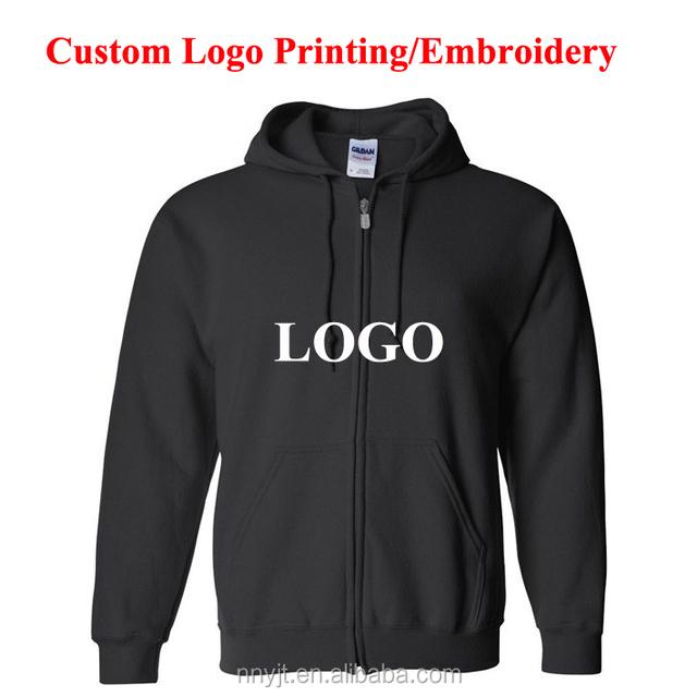 Brand Clothing Heavy Blended Blank Zip Up Hoodie Custom Logo Printing
