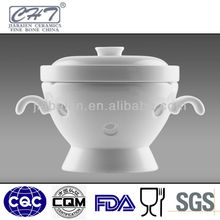 Fine bone china porcelain soup tureen for hotel