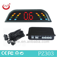 led dispaly parking sensor auto back radar with bibi sound alarm