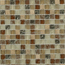 Factory 8mm Glass Mosaic Pieces Brick Pattern For Decoration