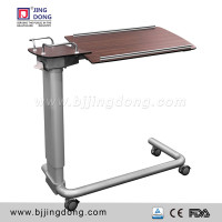 hospital bed dining table with gas spring pillar