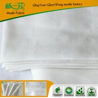The unbleached white bamboo muslin fabric for baby products