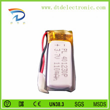 3.7v 110mAh Li-po Battery/Li-polymer Battery/ Lithium polymer Rechargeable Battery Manufacturer with CE,ROHS,UL certificates