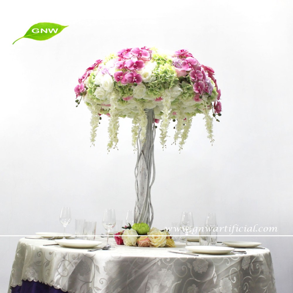 Gnw Ctr1506002-01 Wedding Decoration Table Centerpiece With White ...