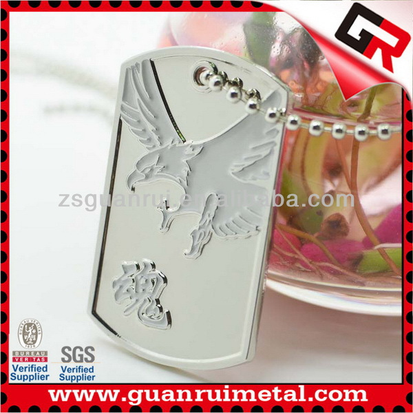 Fashion hot selling custom human dog tags