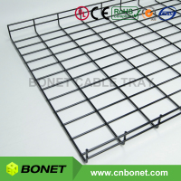 Bonet 50x600mm Wire Mesh Cable Basket Tray Support System with Black Finishing