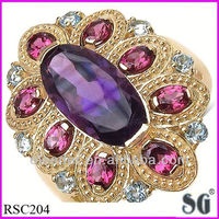 Designer Resplendent rings jewelry_Semi mount diamond engagement ring jewelry_Various colorful stones high quality rings