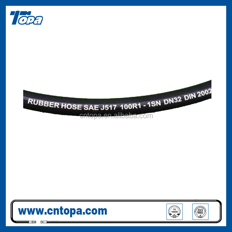 SAE100 High pressure black OEM rubber hydraulic hoses