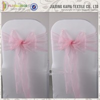 Best quality pink organza chair covers from China