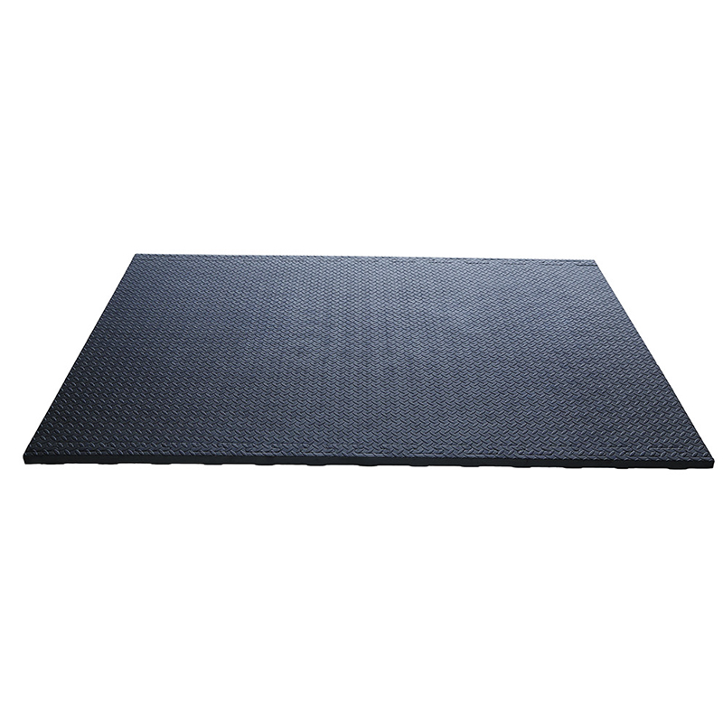 Black anti slip interlocking 24mm 34mm eva cow mat
