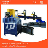 cnc gantry type multiple torches sheet metal steel plate plasma /flame cutting machine