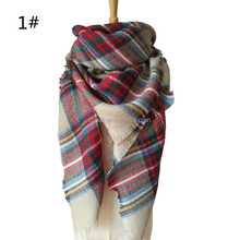 Best quality spring autumn winter women scarves plaid blanket scarf for wholesalers made in Zhejiang