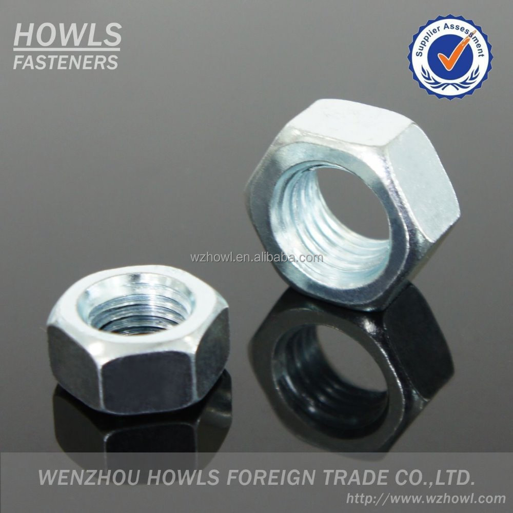 High quality DIN 934 carbon steel stainless steel hexagon nuts