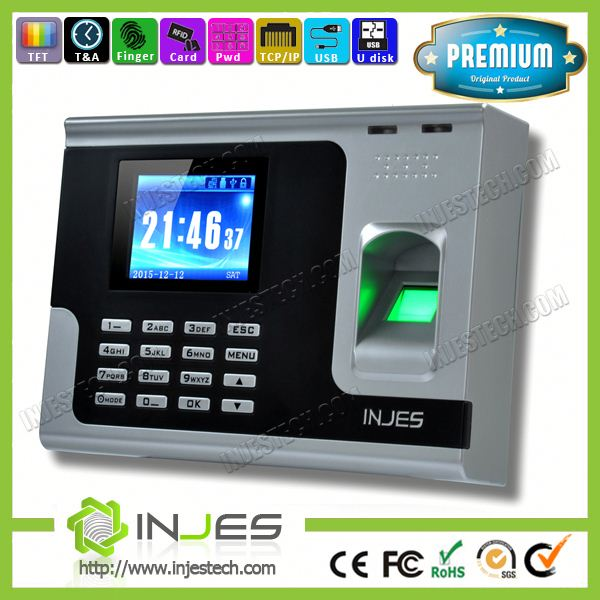 INJES Customize Language TCP IP Backup Battery Biometric Date Time Stamp Machine
