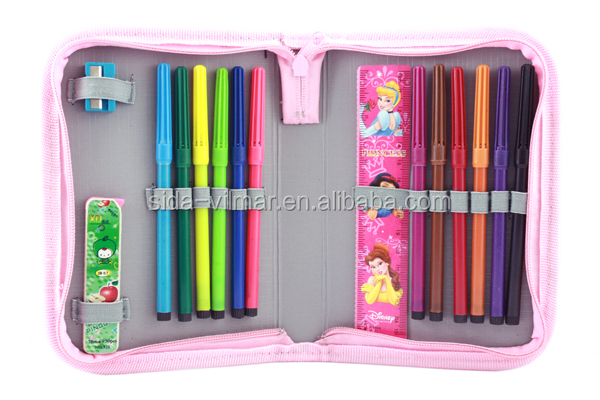 stationary set school with color pencil,ruler and sharpener for kids